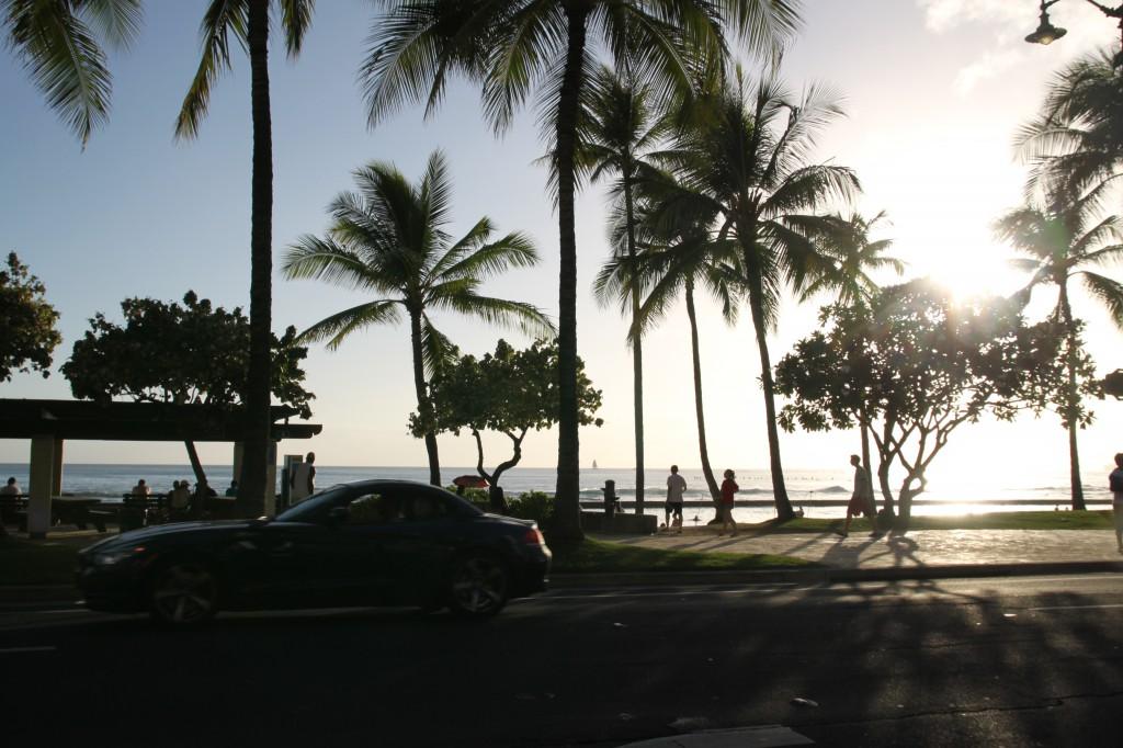 ハワイ,夕日