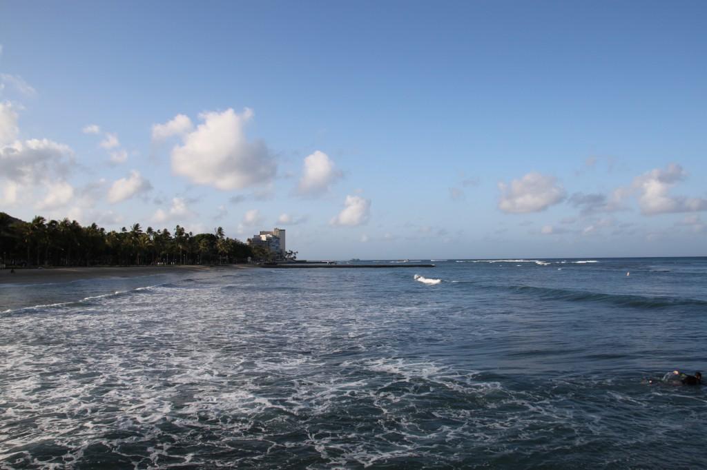 朝,ハワイ,散歩