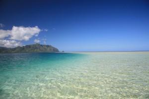 天国の海,サンドバー,ハワイ