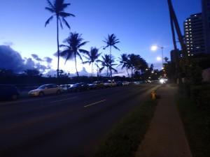 日の出,サイクリング,ハワイ