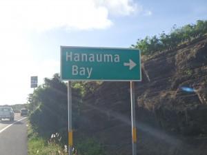 ハナウマ湾,看板