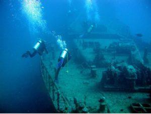 ハワイ,ダイビング,沈船