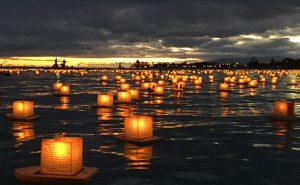 ハワイ,灯篭,流し